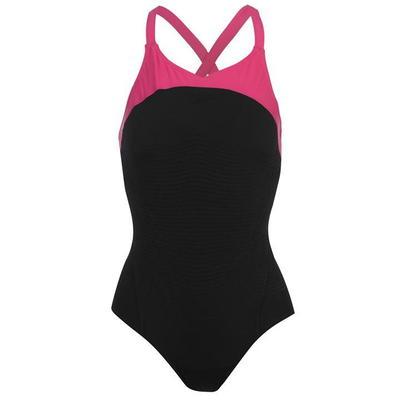 Speedo FIT Power Form XBack, strój kąpielowy, czarny, Rozmiar M