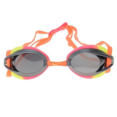 Nike Remora Mirror, okulary do pływania dla dzieci, żółto różowe