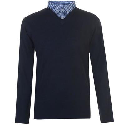 Pierre Cardin Mock V, sweter męski, granatowy, Rozmiar M