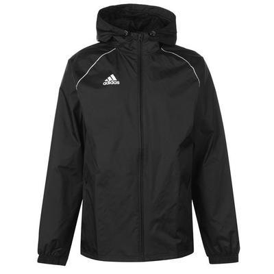 Adidas Core, kurtka przeciwdeszczowa, czarna, Rozmiar M
