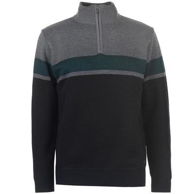 Pierre Cardin Quarter Zip, sweter męski, szaro-grafitowy, Rozmiar XXL