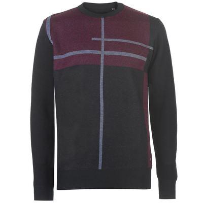 Pierre Cardin Geometric, dzianinowy sweter męski, czarny, Rozmiar M