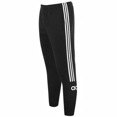 Adidas 3 Stripe Logo, spodnie dresowe męskie, czarne, Rozmiar S