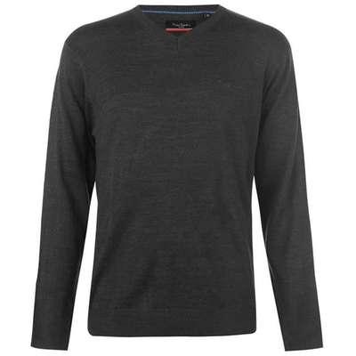 Pierre Cardin V, sweter męski, grafitowy, Rozmiar L