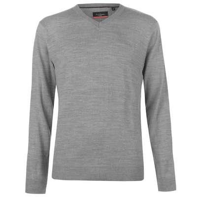 Pierre Cardin V, sweter męski, szary, Rozmiar S