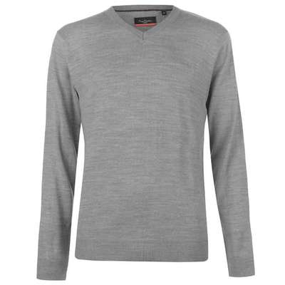 Pierre Cardin V, sweter męski, szary, Rozmiar XL