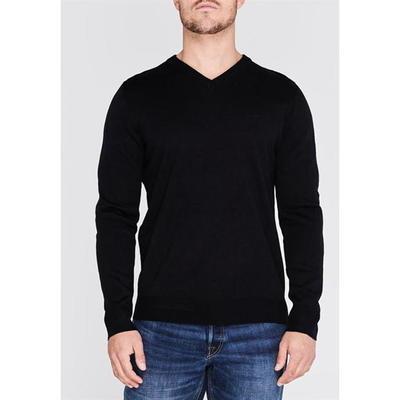 Pierre Cardin V, sweter męski, czarny, Rozmiar 4XL