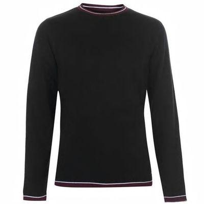 Pierre Cardin Tipped, sweter męski, czarny, Rozmiar XL