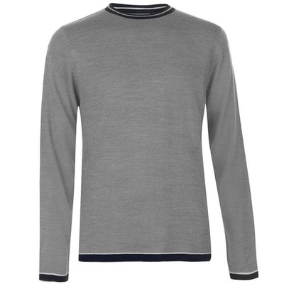 Pierre Cardin Tipped, sweter męski, szary, Rozmiar XL