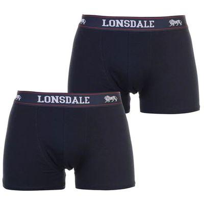Lonsdale 2 sztuki, bokserki męskie, granatowe, Rozmiar L