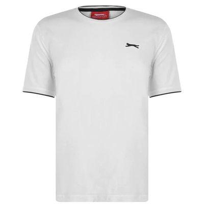 Slazenger Tipped, koszulka męska, biała, Rozmiar XXL