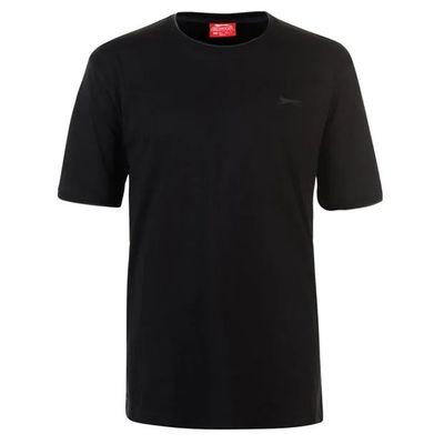 Slazenger Tipped, koszulka męska, czarna, Rozmiar XXL