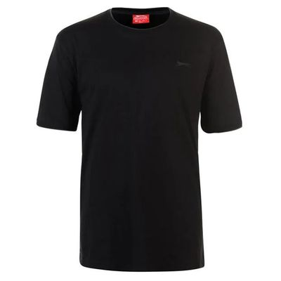 Slazenger Tipped, koszulka męska, czarna, Rozmiar 4XL