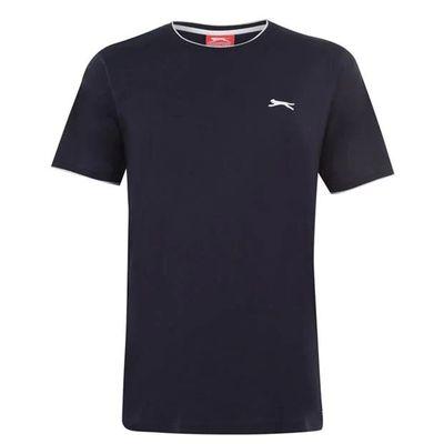 Slazenger Tipped, koszulka męska, granatowa, Rozmiar XL