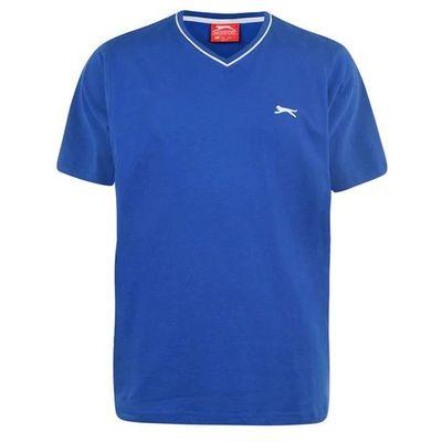 Slazenger V koszulka męska, niebieska, Rozmiar XL