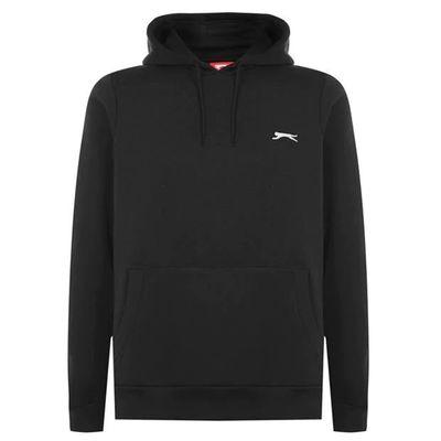 Slazenger Fleece, bluza z kapturem, czarna, Rozmiar XXL