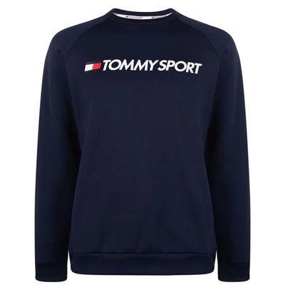 Tommy Sport Logo, bluza ocieplona, męska, granatowa, Rozmiar L
