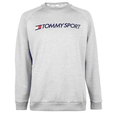 Tommy Sport Logo, sweter męski, szary, Rozmiar XL