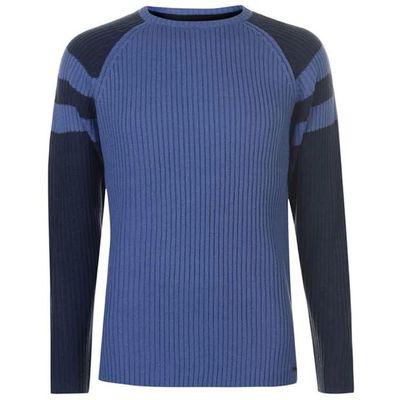 Pierre Cardin Ribbed sweter męski, niebieski, Rozmiar L