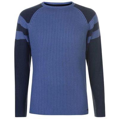 Pierre Cardin Ribbed sweter męski, niebieski, Rozmiar XXL