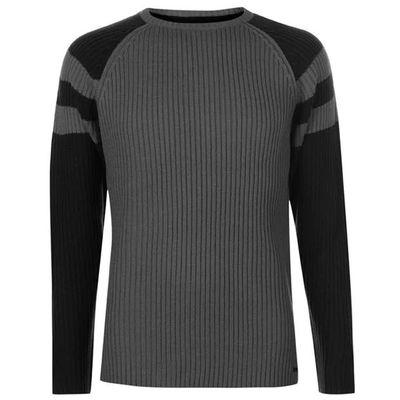 Pierre Cardin Ribbed sweter męski, grafitowy, Rozmiar XL