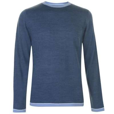 Pierre Cardin Tipped, sweter męski, niebieski, Rozmiar S