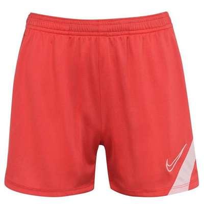 Nike Academy Pro, damskie spodenki piłkarskie, czerwone, Rozmiar M
