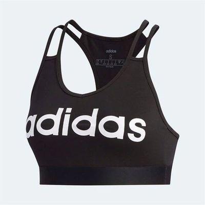 Adidas Linear, stanik sportowy, czarny, Rozmiar L