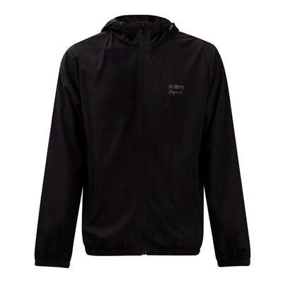Lee Cooper Print, męska kurtka z kapturem, czarna, Rozmiar L
