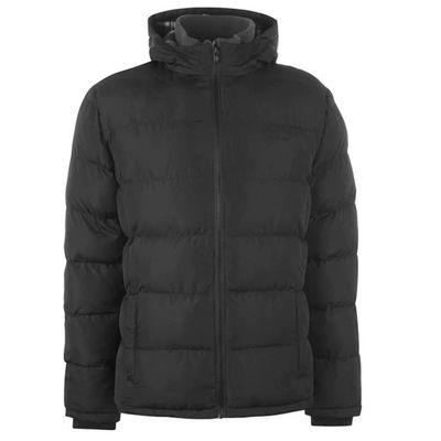 Lee Cooper 2 Zip, kurtka ocieplana męska, czarna, Rozmiar XL