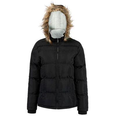 Lee Cooper Faux, kurtka zimowa damska, czarna, Rozmiar XL