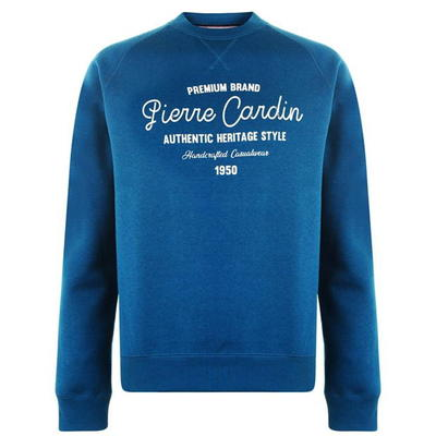 Pierre Cardin Print, bluza męska, niebieska, Rozmiar M