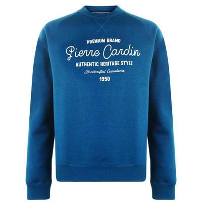 Pierre Cardin Print, bluza męska, niebieska, Rozmiar XL