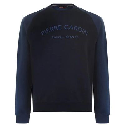 Pierre Cardin Print, bluza męska, granatowa, Rozmiar S