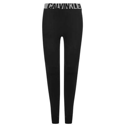 Calvin Klein, legginsy termiczne, czarne, Rozmiar L