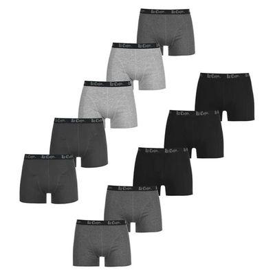Lee Cooper bokserki męskie, zestaw 10 sztuk, ciemne, Rozmiar 2XL