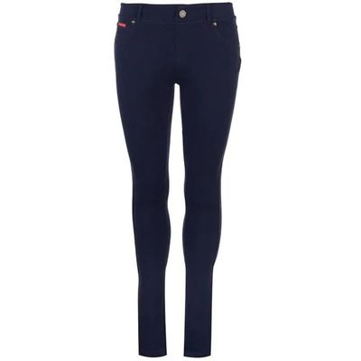 Lee Cooper Solid, spodnie damskie, granatowe, Rozmiar M