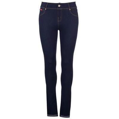 Lee Cooper Denim, legginsy dżinsowe, granatowe, Rozmiar XL