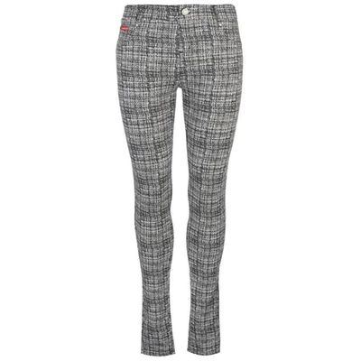 Lee Cooper AOP, legginsy damskie, czarno-białe, Rozmiar XL