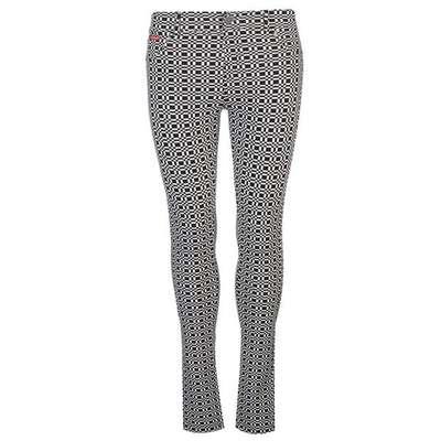 Lee Cooper AOP, legginsy damskie w kratkę, czarno-białe, Rozmiar XL
