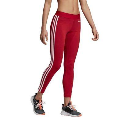 Adidas 3S, legginsy damskie, czerwone, Rozmiar L