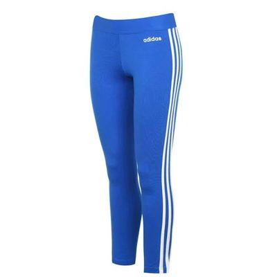 Adidas 3S, legginsy damskie, niebieskie, Rozmiar L