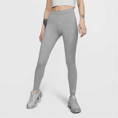 Nike Swoosh, legginsy damskie, szare, Rozmiar L