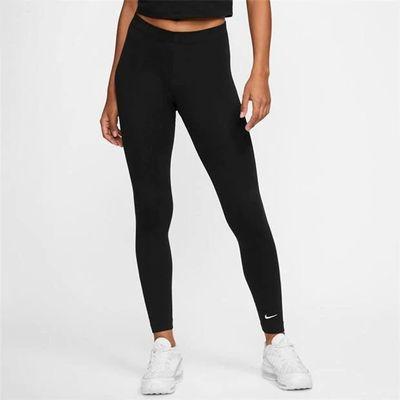 Nike Swoosh, legginsy damskie, czarne, Rozmiar M