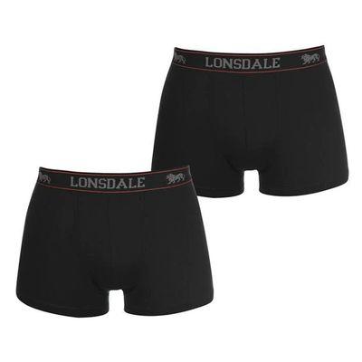 Lonsdale 2 sztuki, bokserki męskie, czarne, Rozmiar 3XL