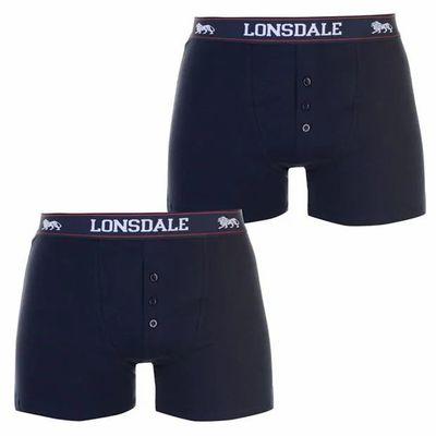 Lonsdale 2 sztuki, bokserki męskie, granatowe, Rozmiar XS