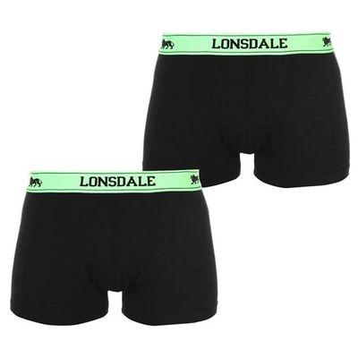 Lonsdale 2 sztuki, bokserki męskie, czarne Fl, Rozmiar 3XL