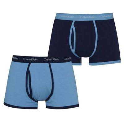 Calvin Klein, bokserki męskie 2 szt., niebieskie, Rozmiar XL