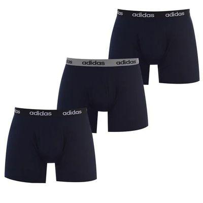 Adidas bokserki sportowe męskie, zestaw 3 szt., niebieskie, Rozmiar S