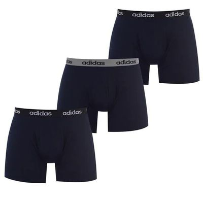 Adidas bokserki sportowe męskie, zestaw 3 szt., niebieskie, Rozmiar M